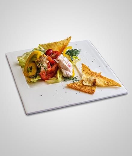 Куриная грудка с овощами и лавашом